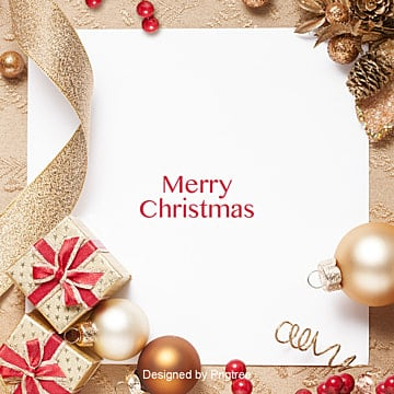 with the background of stable gold christmas decoration, Golden, Satin, Red PNG and PSD
