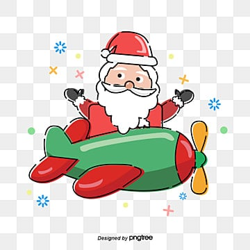 santa claus plane, Santa Claus., Red, The Plane PNG and Vector