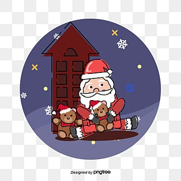 santa claus circle, Christmas, Santa Claus, Stuffed Pastry PNG and Vector