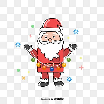 santa claus gift, Santa Claus, The Ribbon, Small Ball PNG and Vector