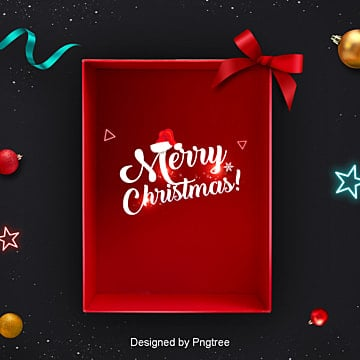 christmas gift box and the background to black gold, Bow Tie, Gift Box, Christmas PNG and PSD