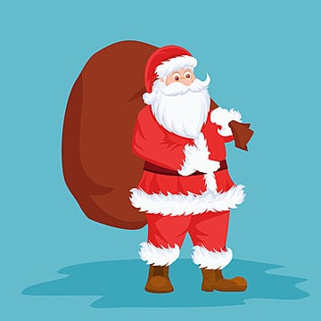 Card Santa Claus  Vector illustation, Background, Beard, Card PNG and Vector