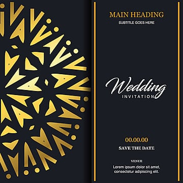 Indian Wedding Card Png Images Vector And Psd Files Free