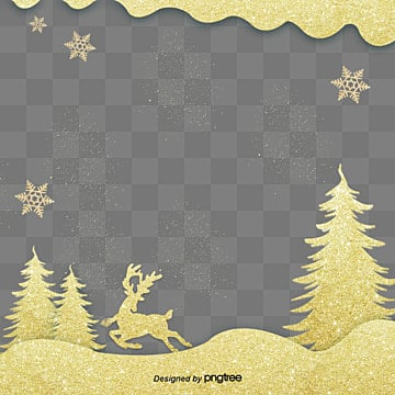 about gold christmas frame, Gold, The Snow, Luxury PNG and PSD