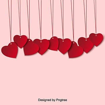 Care Vector Elements of Red Valentines Day Hanging Card, Element, Paper-cut, Lovely PNG and Vector