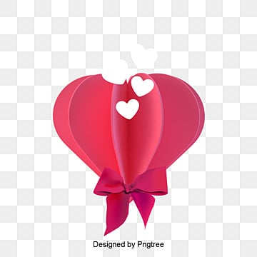 red valentines day care origami style material, Cartoon, Lovely, Aestheticism PNG and PSD