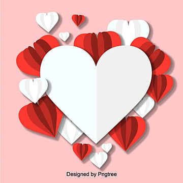 Valentines Day Caring Origami Paper-cut Projection Red Cute Vector Elements, Element, Paper-cut, Lovely PNG and Vector