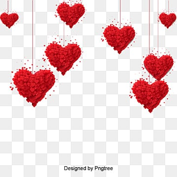 valentines day love red origami style material, , Lovely, Aestheticism PNG and PSD