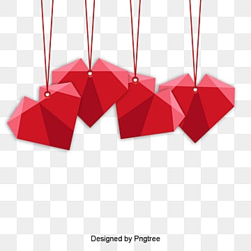 valentines day love red origami style material, Lovely, Valentines Day, Origami PNG and PSD