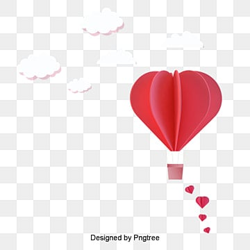 valentines day love red origami style material, Cartoon, Lovely, Aestheticism PNG and Vector