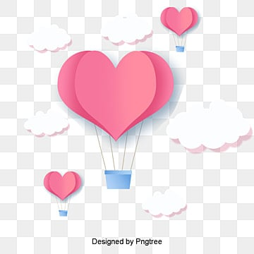 valentines day love red origami style, Cartoon, Lovely, Aestheticism PNG and PSD