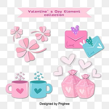 Valentines Day Pink Cute Simple Elements, Lovely, Valentines Day, Simple PNG and Vector
