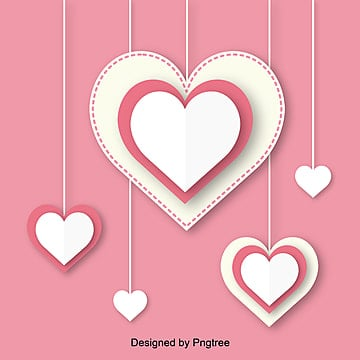 Valentines Day Pink Love Origami Vector Elements, Element, Paper-cut, Lovely PNG and Vector