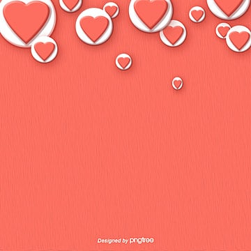 Coral Red Valentines Day Love Background, Trend Color 2019, Originality, Creative Background PNG and PSD
