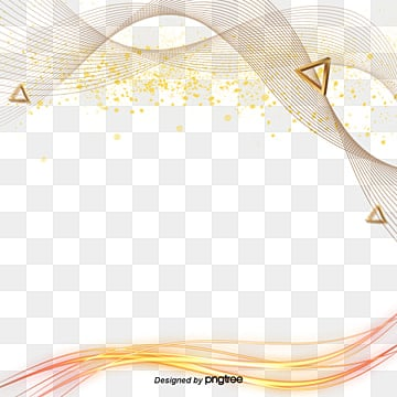 Fashionable Golden Line Elements, Originality, Fashion, Dazzle PNG and PSD