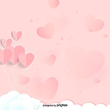 Pink heart background image clouds of white, The Clouds, The Background Image, White PNG and PSD
