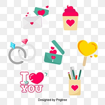 valentines day love festival elements illustration, Lovely, Aestheticism, Valentines Day PNG and PSD