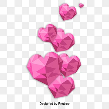 valentines day love red origami style material, Cartoon, Lovely, Aestheticism PNG and PSD