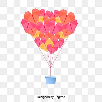 valentines day red origami, Cartoon, Lovely, Aestheticism PNG and PSD