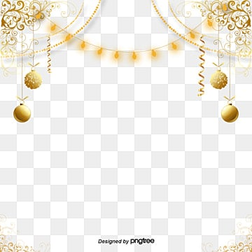 Fashion Atmospheric Golden Decorative Patterns Elements, Originality, Coloured Ribbon, Fashion PNG and PSD