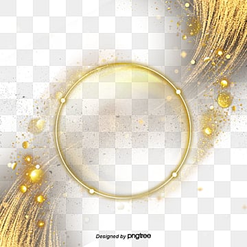 Simple Creative Golden Border Material, Originality, Fashion, Frame PNG and PSD
