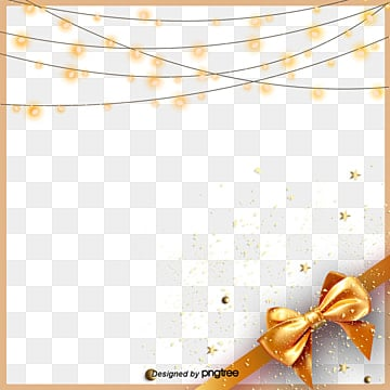 Simple fashion gold bow border elements, Originality, Fashion, Stars PNG and PSD