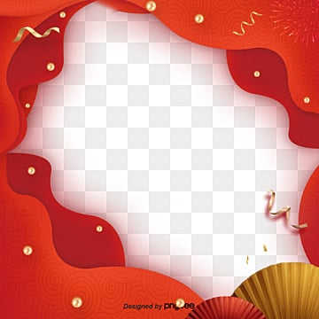 creative festival red border elements, Jubilation, Atmosphere, Coloured Ribbon PNG and PSD
