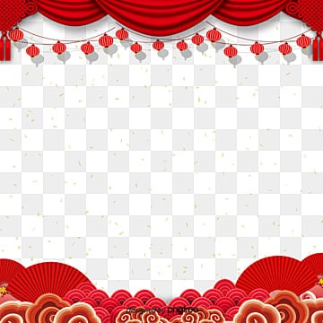 fashionable red atmosphere spring festival elements, Jubilation, Atmosphere, Coloured PNG and PSD