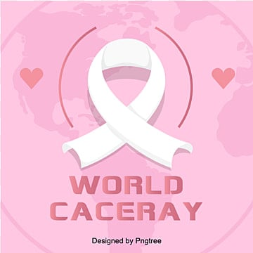 Pink World Cancer Day Ribbon Medical Care Vector Elements, World, World Cancer Day, Silk Ribbon PNG and Vector