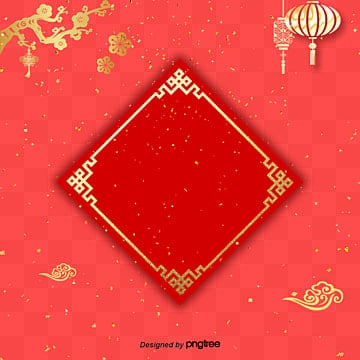 simple red spring festival festival festival, Atmosphere, Spring Festival, Plum Blossom PNG and PSD