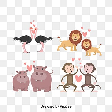 valentines day animal lovers illustration, Love Clipart, Lovely, Animal PNG and PSD