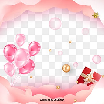 Valentines Day Elements of Simple Pink Balloon Gift Box, Atmosphere, Valentines Day, Balloon PNG and PSD