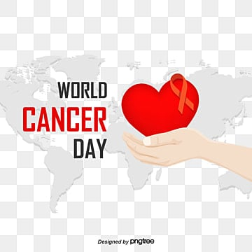 elements of world day for cancer prevention in the red world, Silk Ribbon, Map, Hand PNG and PSD