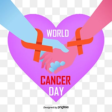 Purple World Cancer Prevention Day Elements, World Day, Silk Ribbon, Heart PNG and PSD