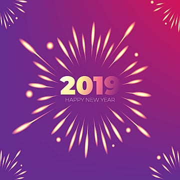 2019 celebration fireworks beautiful background, Fireworks, Violet, Poster PNG and Vector