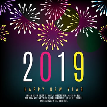 2019 celebration fireworks beautiful background, Happy New Year Fireworks, Colored Fireworks, Digital New Year PNG and Vector