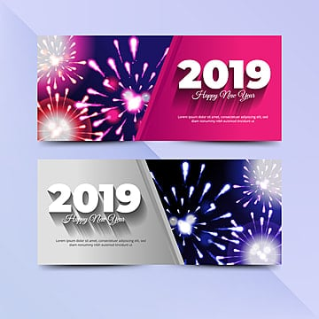 2019 new year flyer, Logo, Banner, Brochure PNG and Vector
