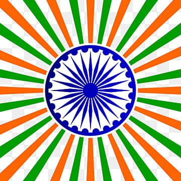 abstract india flag color with ashoka vector illustration, Republic, India, Independence PNG and Vector