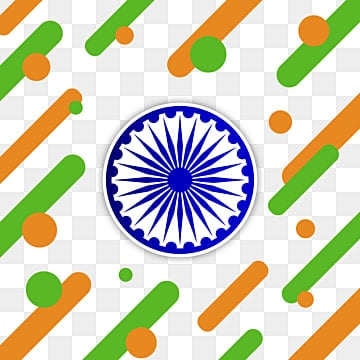 abstract lines and circles with india flag color with ashoka vector, Abstract, Lines, Circle PNG and Vector