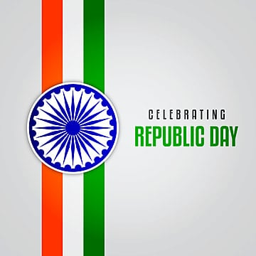 celebrating republic day on 26 january with flag illustration, Abstract, Republic, India PNG and Vector
