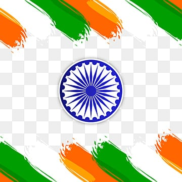 india flag color brush stroke frame with ashoka vector, Republic, Indian, Flag PNG and Vector