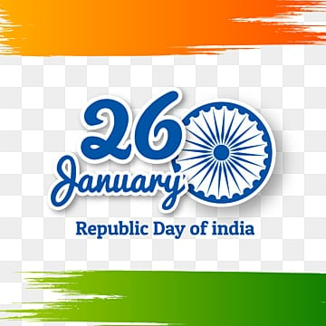 indian republic day concept with text 26 january, Republic Day, India, Republic PNG and Vector