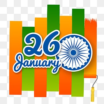 indian republic day paint brush illustration, Republic Day, India, 26 January PNG and Vector
