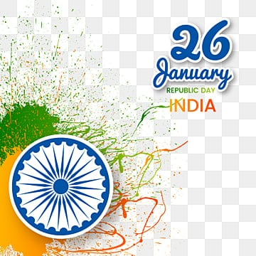 ink splatter  decoration of india republic day 26 january, Republic Day India, , Independence PNG and Vector