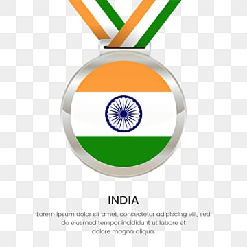 national flag with silver place winners medal for republic day onf india, India Republic Day, Independence Day Medal Flag, Silver Medal National Flag PNG and Vector