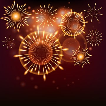 realistic fireworks new year 2019 background, Hand Drawn Fireworks Background, New Year Gorgeous Fireworks Bloom Background, New Year Fireworks PNG and Vector