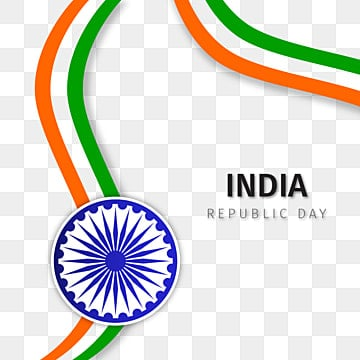 republic day with wavy shaped india flag vector, India, Republic, Wavy PNG and Vector