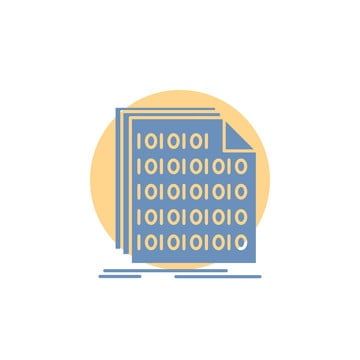 binary code coding data document glyph icon, Access, Archive, Binary Code PNG and Vector