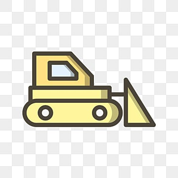 Clipart of a Black and White Bulldozer - Royalty Free Vector Illustration  by dero #1603848