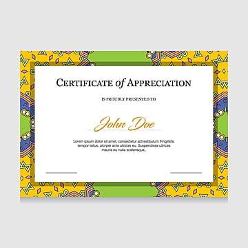 Certificate Creative Design Vector Online Ll Ideas